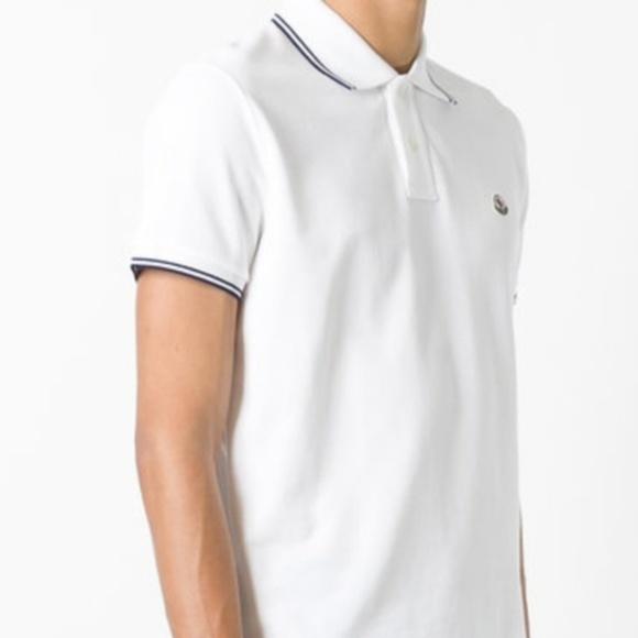 d9bb944575b24e Moncler Shirts | Men White Polo Shirt Medium | Poshmark
